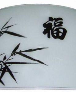 Aplica de perete cu ideograma norocului si bambus