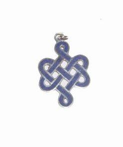 Nodul mistic din argint 925 albastru