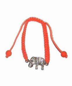 Bratara cu elefantul iubirii neconditionate pe siret portoca