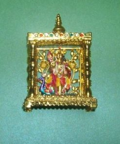 Statueta indiana aurie cu fiul lui shiva Murugan