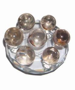 Grila / platou din cristal cu 7 sfere magice