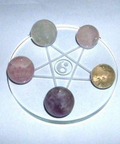 Grila / platou din cristal cu 5 sfere magice