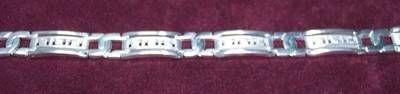 Bratara barbateasca din argint cu simbolul sanatatii - unica
