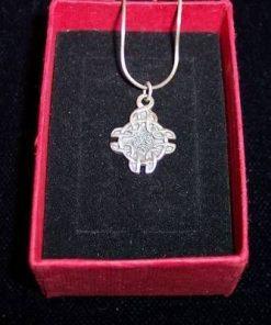 Pandantiv din argint - nod stilizat, pe lantisor din argint