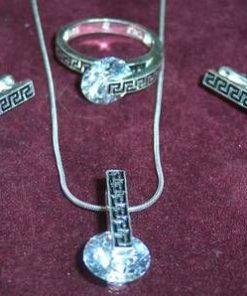 Set Feng Shui din argint cu Simbolul Longevitatii - unicat !