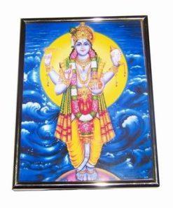 Tablou cu zeitatea Dhanvantari