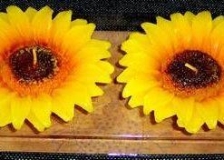 Lumanari in forma de floarea soarelui - pentru cariera