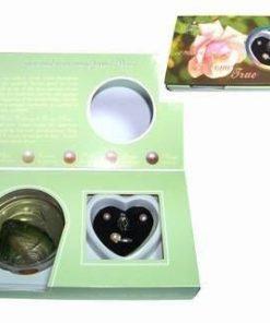 Set Feng Shui cu perla dorintei si perle sidef - cutie verde