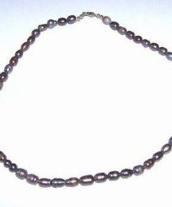 Colier din perle negre/multicore de cultura