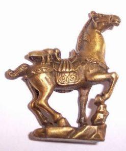 Albinuta pe cal - remediu Feng Shui auriu - din bronz