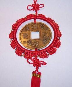 Amuleta Feng Shui cu moneda I Ching si nod mistic