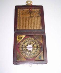 Busola geomantica - Luo-pan - in cutie din lemn - vintage