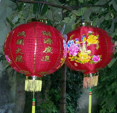 2 Lampadare Feng Shui XXL din matase
