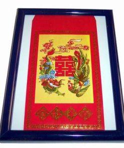 Tablou de birou sau de perete cu Pasare Phoenix si Dragon
