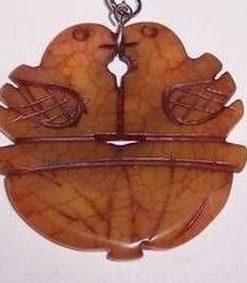Amuleta Feng SHui din jad cu pasarile fericirii