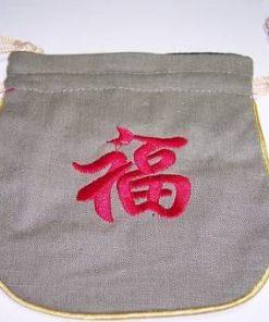 Saculet Feng Shui cu ideograma Norocului
