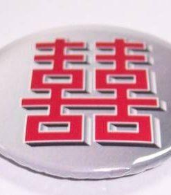 Insigna Feng Shui cu Simbolul Dublei Fericiri