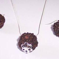 Set de bijuterii Feng Shui cu Rudraksha - model unicat!