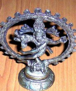 Zeul Shiva din metal - remediu Feng Shui