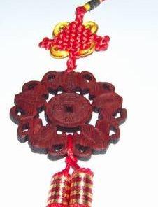 Canaf Feng Shui cu lilieci si moneda Pa Kua