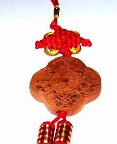 Canaf Feng Shui din lemn cu liliac si Nod Mistic gravat