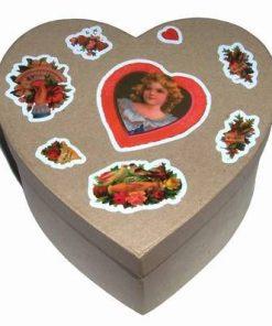 Cutie de carton cu simboluri de dragoste si ingeras