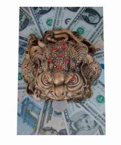 Tablou Feng Shui cu broasca banilor si dolarilor