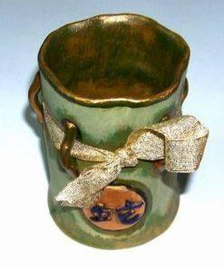 Vas din ceramica - remediu Feng Shui pentru baie - mare