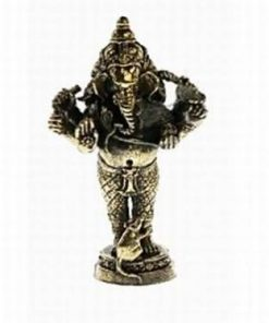 Ganesha cu 6 brate - ministatuie din alama