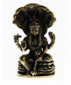 Zeul Shiva cu Sarpele Cosmic - statuie din alama