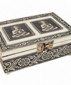 Cutiuta din metal cu interior din catifea visinie