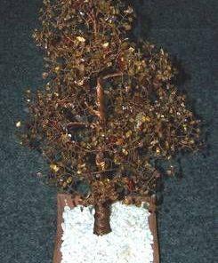 Copac Feng Shui cu cristale de ochi de tigru si frunze - XXL