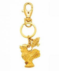 Amuleta / breloc cu cocosul auriu al norocului de bani
