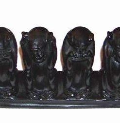 Cele patru maimute inteligente din os de peste - XL