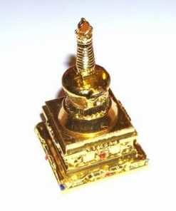 Stupa aurie binecuvantata - remediu Feng Shui din metal