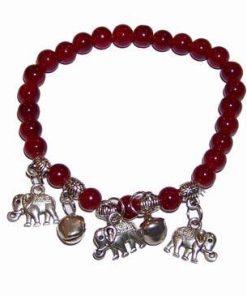 Bratara cu elefantii fertilitatii din metal nobil