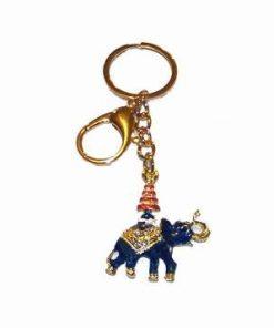 Breloc placat - Elefantul albastru cu stupa