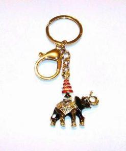 Breloc placat - Elefantul negru cu stupa