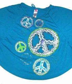 Bluzita din bumbac, tip Fluture cu simboluri de pace