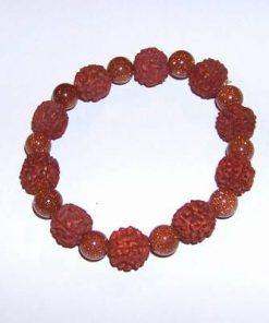 Bratara cu Rudraksha si cristale de piatra soarelui -Mistret