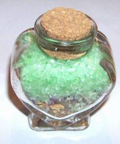 Sticluta cu sare de baie si plante - aroma de mar