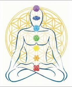 Card Feng Shui cu Floarea Vietii si 7 chakre