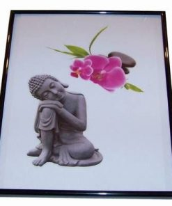 Tablou cu Buddha al medicinei si orhidee