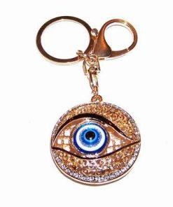 Breloc placat cu aur - Ochiul lui Horus