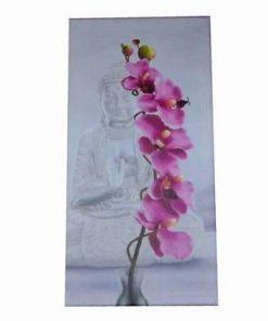 Tablou cu Buddha al Medicinei si floare de orhidee