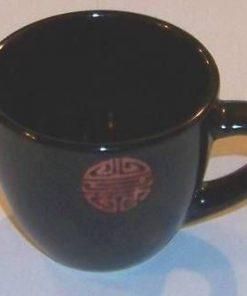 Cana de ceai mica cu simbolul sanatatii