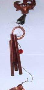 Clopotel de vant cu 4 tuburi goale, maro, pentru Bivol