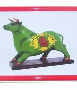 Bivolul verde cu simboluri de noroc - tablou