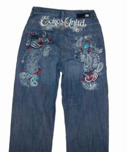 Blugi - jeans brodati - model vintage