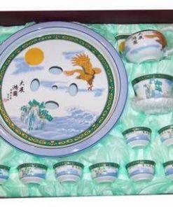 Set original de sake, din portelan